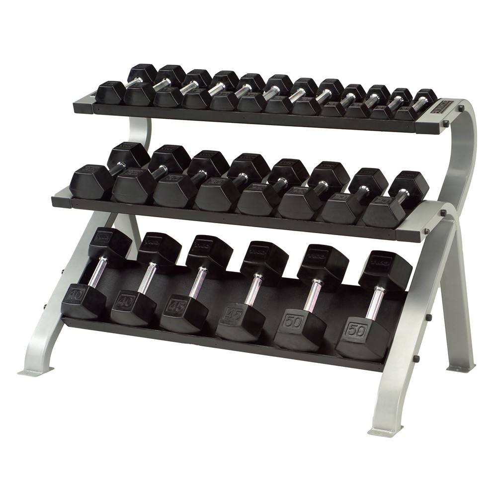 TKO 3-TIER HORIZONTAL DUMBBELL RACK