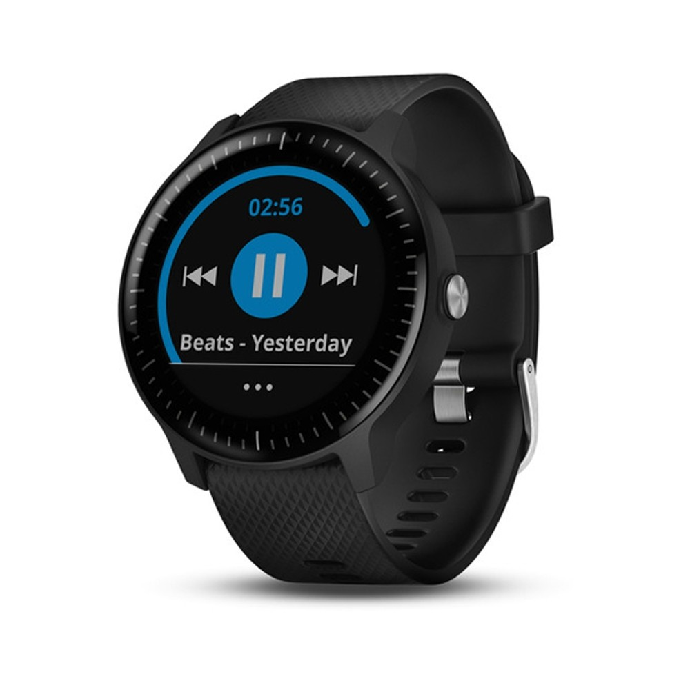 Garmin vívoactive 3 Music - Black with Silver Hardware