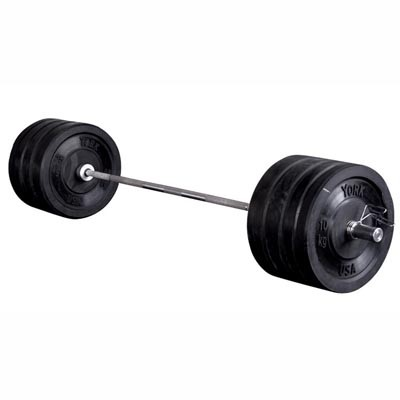 York Barbell Solid Rubber 160 kg Olympic Training Barbell Set