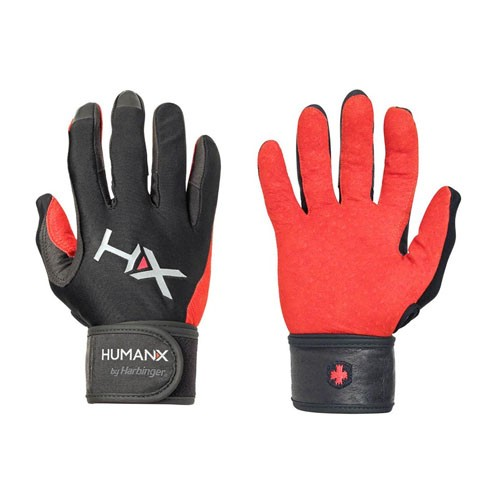 Humanx 71800 X3 Competition Full Finger Wristwrap Gloves Red