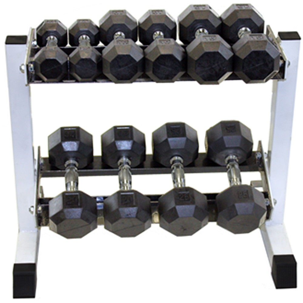 Dumbbell Set And Rack For Sale: Troy 5 Pair Rubber Dumbbell Set With Rack