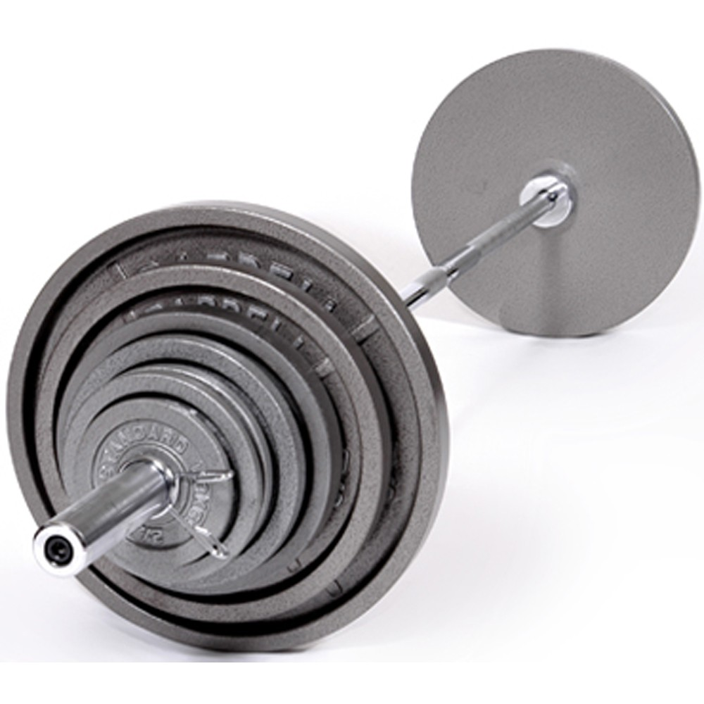 Troy 300 lb Olympic Weight Set Gray Enamel Finish