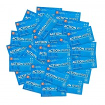 Action Wipes - 25 Pack - Individually Wrapped - Large 9x10