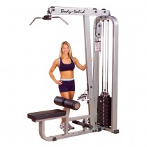 Body Solid Pro Club Line Lat Machine with Mid Row