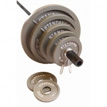 CAP Barbell 300 lb. Olympic Weight Set - Black Bar/Gray Plates