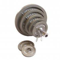 CAP Barbell 300 lb. Olympic Weight Set - Chrome Bar/Gray Plates