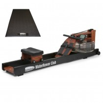WaterRower Club S4 Bundle with WaterRower Mat