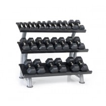 Outdoor 8 Pair Urethane Dura-Bell Dumbbells set with Rack