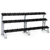 Hampton Fitness 15 Pair 3-Tier Pro Saddle Style Dumbbell Rack