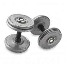 Hampton Gray Pro-Style Dumbbells with Urethane Snug-Grip Handles