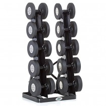 Hampton Vertical Twin Tower 5-Pair Dumbbell Rack