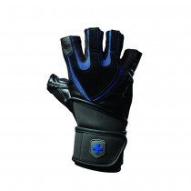 Harbinger 1250 Training Grip WristWrap Gloves - Black/Blue