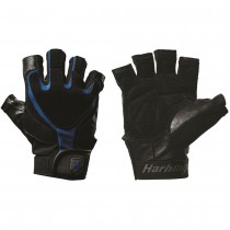 Harbinger 1260 Training Grip Gloves - Black/Blue
