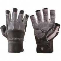 Harbinger 1310 BioForm Gloves with WristWrap - Gray