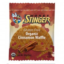 Honey Stinger 1 oz Gluten Free Cinnamon Waffle (Pack of 16)