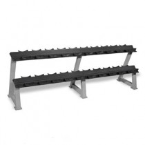 Hampton Dura-Pro Dumbbell Sets with 2-Tier Horizontal Racking