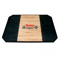 York Barbell Solid Oak Free Standing Weightlifting Platform