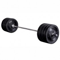 York Barbell Men's 325 lb Rubber Bumper Training Set