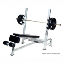 York Barbell STS Olympic Decline Bench with Gun Racks
