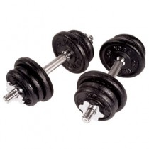 York Barbell Cast Iron Adjustable Spin-lock Dumbbell Sets