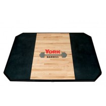 York Barbell 8 x 4 Solid Red Oak Platforms for use with insets