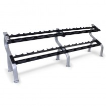 Troy 2-Tier 10 Pair Dumbbell Rack with Saddles