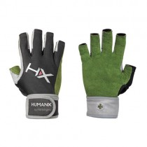 HumanX X3 Competition 3/4 Finger with WristWrap Gloves - Green