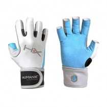 HumanX Women's X3 Competition 3/4 WristWrap Gloves - Blue