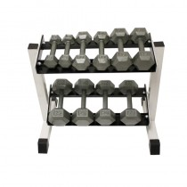 Troy 5 Pair Iron Dumbbell Set w Rack