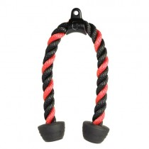 "Harbinger 26"" Tricep Rope - Black/Red"