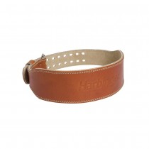 "Harbinger 4"" Classic Oiled Leather Weightlifting Belt"