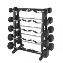 Hampton Dura-Bell 10 Bar Straight and Curl Barbell Sets Club Packs with Rack