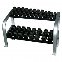 "Inflight Fitness 65"" Deluxe 2-Tier Hex Dumbbell Rack"