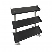 "Inflight Fitness 54"" 3-Tier Dumbbell Rack - Tray Style"
