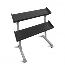"Inflight Fitness 69"" 2-Tier Dumbbell Rack - Tray Style"