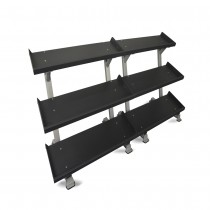 "Inflight Fitness 109"" 3-Tier Dumbbell Rack System"