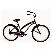 Kettler Bicycle Verso Ladies' Vegas Cruiser - Matte Black/Pink