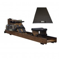 WaterRower Vintage Oak Bundled with WaterRower Mat