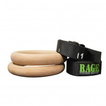 Rage Fitness Performance Wood Ring Set Quick Release