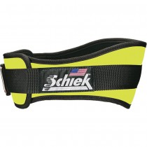 Schiek 2004 Nylon Weightlifting Belt - Neon Yellow