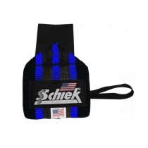 Schiek Heavy Duty Rubber Reinforced Blue Line Wrist Wraps