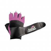 Schiek 540 Platinum Lifting Gloves with Wrist Wraps - Pink