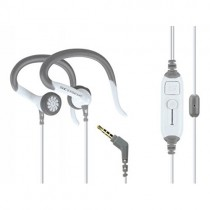 SCOSCHE Sport Clip Earphones with Slideline -White/Gray