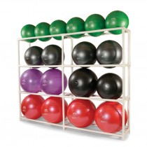 SPRI 16-Ball PVC Rack
