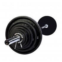 Troy 300 lb Olympic Weight Set with Black Enamel Finish Plates