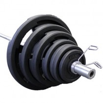 Troy VTX Rubber Olympic 300 lb. Weight Set