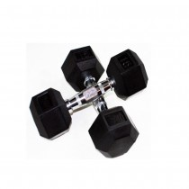 Troy 6 Sided Rubber Encased Dumbbells