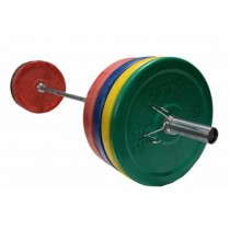 Troy VTX 275 lb Colored Bumper Plate Set