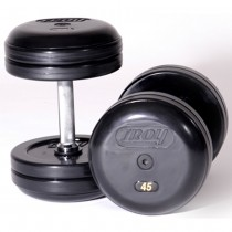 Troy Pro-Style Rubber Encased Rubber Endcap Dumbbell Sets