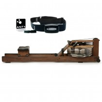 Classic WaterRower w Digital Heart Rate Monitoring Kit Ext plug-in ANT